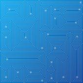 抽象蓝色电路的背景。矢量. — 图库矢量图片
