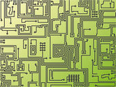 Circuit board background. Vector. — Stock Vector