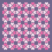 Seamless hearts pattern. Vector. — Stock Vector