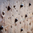 Old rusty metal with rivets — Stock Photo