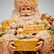 Santa Claus with gifts. Christmas background. — Foto de Stock