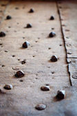 Rivets on old rusty metal — Stock Photo