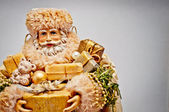 Santa Claus with gifts. Christmas background. — Stok fotoğraf