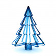 Christmas tree 3d rendering. Christmas card. — Stock Photo