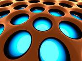 高科技结构背景。3d 渲染的图像. — 图库照片