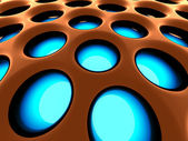 Fondo de la estructura de alta tecnología. 3d imagen renderizada. — Foto de Stock
