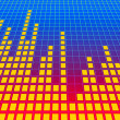 Music equalizer background. 3d rendered image. - Stockfoto