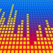 Stock Photo: Music equalizer background. 3d rendered image.