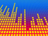 Music equalizer background. 3d rendered image. — Stock Photo