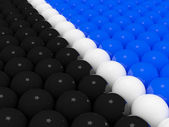 Divided 3d balls groups — Stock Photo