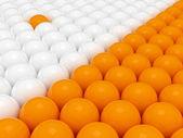 群体的 3d 球 — 图库照片