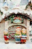 Cildren Christmas choir. — Stock Photo