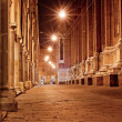 Stok fotoğraf: Old city street at night