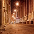 图库照片: Old city street at night