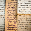 Old handwritten letters on old paper — Foto Stock