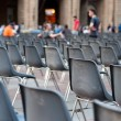 Row of empty seats — Stock Photo