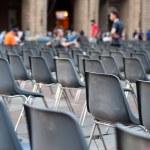 Row of empty seats — Stock Photo