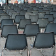 Row of empty seats — Foto Stock
