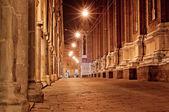 Cidade velha rua à noite — Foto Stock