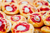 Small pizzas. pizzete — Stock Photo