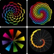 Abstract colorful shapes. Vector. — Imagens vectoriais em stock