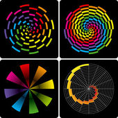 Abstract colorful shapes. Vector. — Stock Vector
