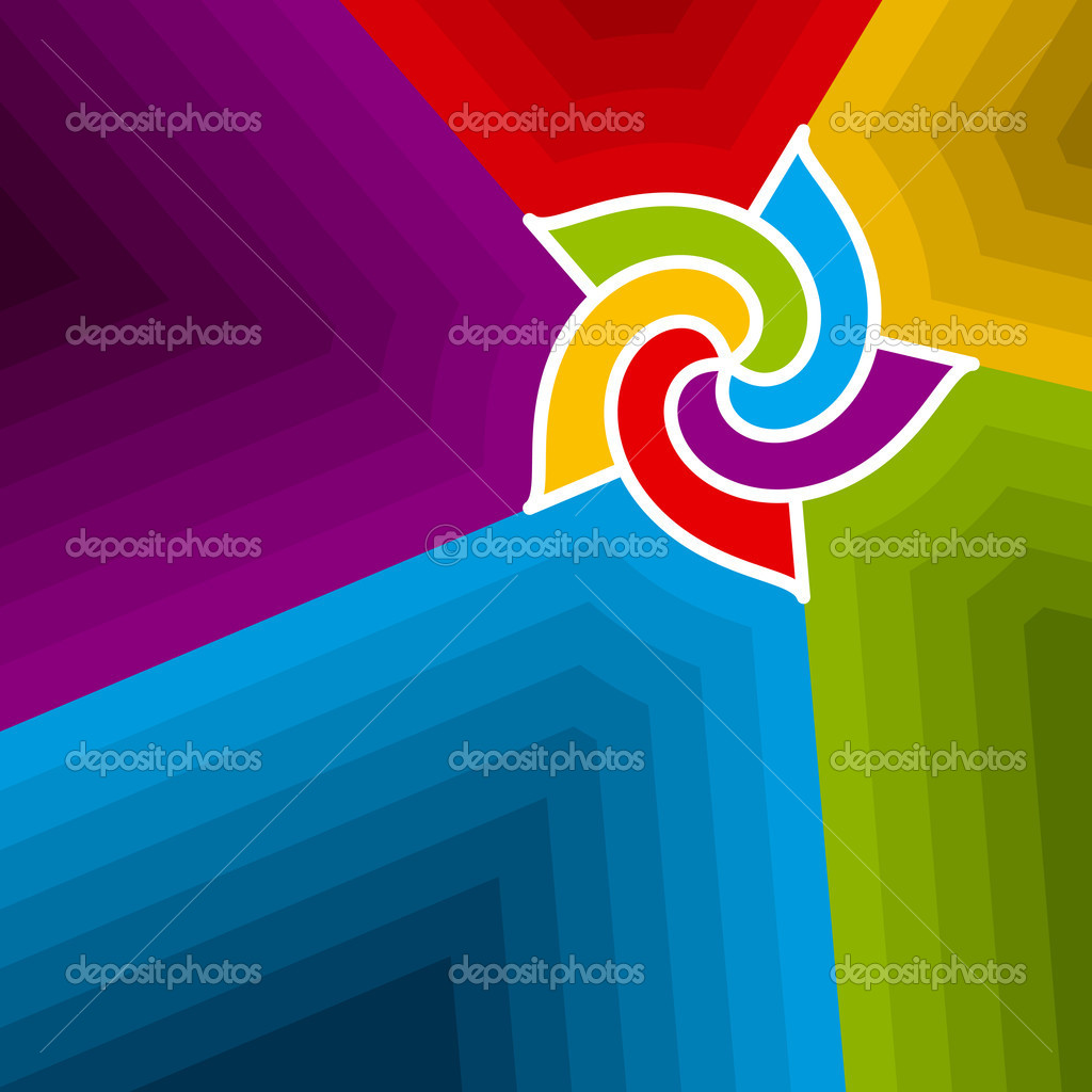 Abstract vector illustration background depicting colorful swirl. — Stock Vector #14626551