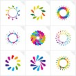 Abstract design elements. Vector. — Imagen vectorial