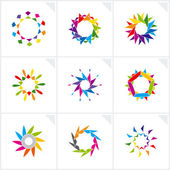 Abstract design elements. Vector. — Stock Vector