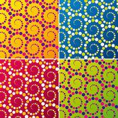 Retro pattern set. Vector illustration. — Stock Vector