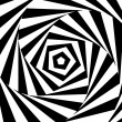 Wektor stockowy : Abstract swirl optical illusion background. Vector.