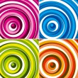 Colorful circles background set. Vector. — Vektorgrafik