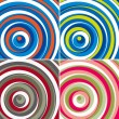 Colorful circles background set. Vector. — Stock Vector