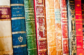 Old books background — Stock Photo