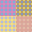 Abstract seamless circles pattern set. Vector. — Stockvector