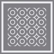 Seamless circles pattern. Vector. — Stock Vector