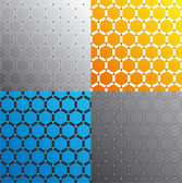 Seamless honeycomb pattern set. Vector. — Stock Vector