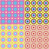 Abstract seamless circles pattern set. Vector. — Stockvektor