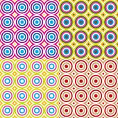 Abstraktní kruhy bezešvé vzor sada. vektor. — Stock vektor