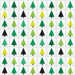 Christmas tree seamless pattern background. Vector. — Stock Vector #15841123