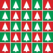 Christmas tree seamless pattern background. Vector. — Vektorgrafik