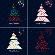 Colorful Christmas tree background set. Vector. — Stock vektor