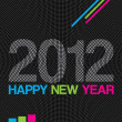 2012 Happy New Year modern background — Stock Vector