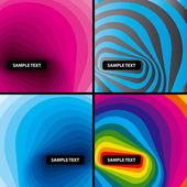 Abstract modern layout set. Vector. — Stock Vector