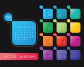 2013 calendar vector — Stock Vector