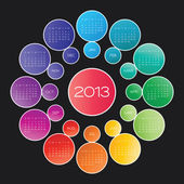 Calendar 2013 vector — Vetorial Stock