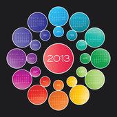 Takvimi 2013 vektör — Stok Vektör