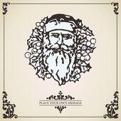 ビンテージ クリスマス カード。ベクトル. — Stockvektor