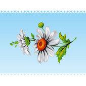 Vintage daisy flower. Vector. — Stock Vector