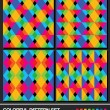 Colorful geometric pattern set. Vector. — Stockvectorbeeld